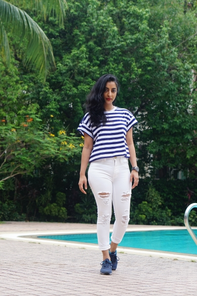 How to wear white jeans 2