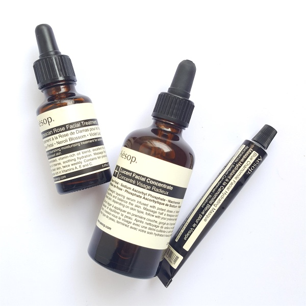 Aesop-Lucent-Facial-Concentrate, lightweight moisturiser, brightening moisturiser, best moisturiser, moisturiser with face oil, overnight face mask