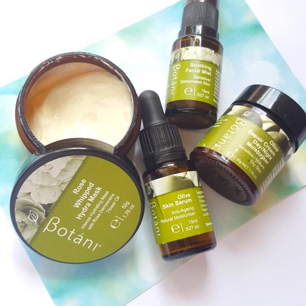 Botani, squalane, natural skincare, sensitive skincare, moisturiser for dry skin, moisturiser for mature skin, face mask, face serum