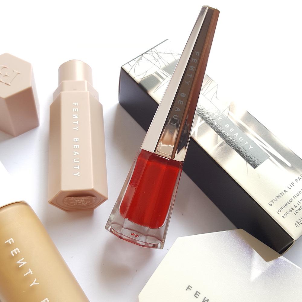 Fenty Beauty Stunna Lip Paint Uncensored review, liquid lipstick, red lipstick, matte red lipstick, perfect red lipstick for all skin tones, red lipstick for pale skin, red lipstick for medium skin, red lipstick for deep skin