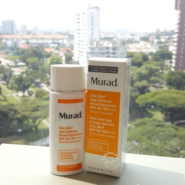 Murad City Skin Age Defence Broad Spectrum Protection SPF 50, mineral sunscreen, sun protection, HEV protection,