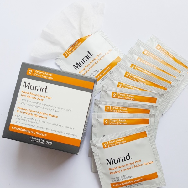 Murad Rapid Resurfacing Peel, Alpha Hydroxy Acid, Glycolic acid, clear skin, antiageing, brighter skin
